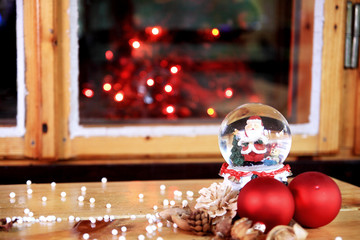 Christmas atmosphere and a glass ball