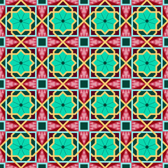 Oriental traditional ornament, east seamless pattern. Geometric