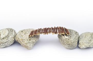Steinpfad mit Steg