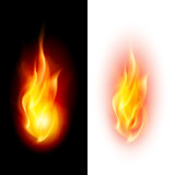 Two fire flames.
