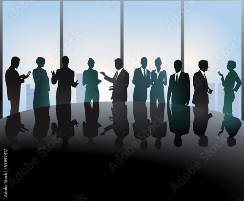 Treffen am Konferenztisch