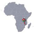 Afrikakarte mit Malawi
