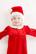 little girl as Santa Claus
