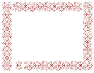 frame with elements of Latvian ornament