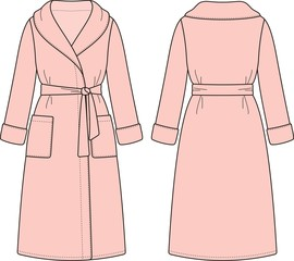 Vector illustration of bathrobe