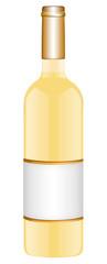 Weißweinflasche freigestellt