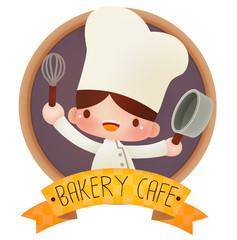 Cute cartoon chef