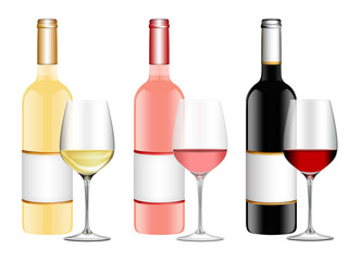Weinkollektion mit Weingläser