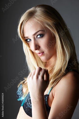 Blonde adult woman