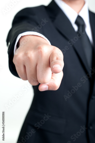 Businessman Pointing I want you isolated