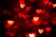 red heart bokeh