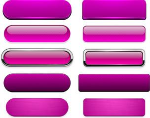 Magenta high-detailed modern web buttons.