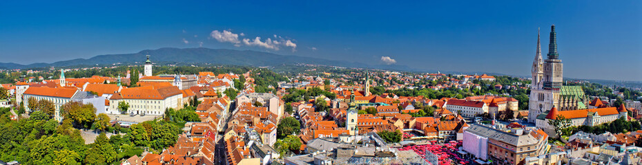 Historic city of Zagreb panoramic