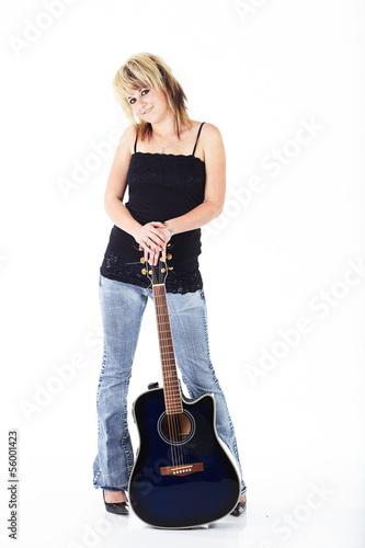 Young Caucasian musician