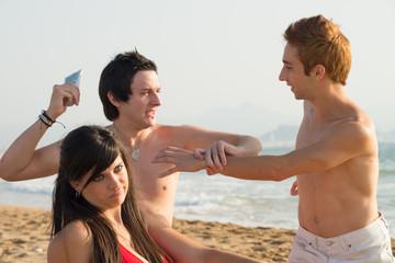 Beach squabble