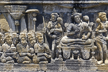 Java, Tempelanlage von Borobodur; Reliefs