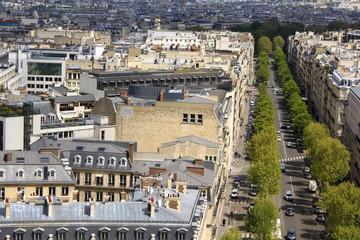 Panoramic view at avenue Marceau, Paris