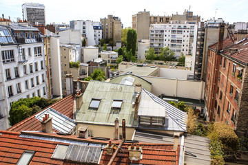 Rooftops at rooftops somewhere in Paris