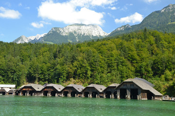 wooden boat houses