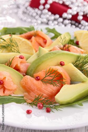 smoked salmon and avocado