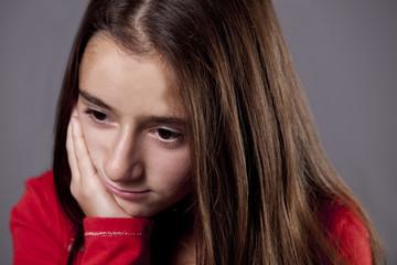 Sad South African Teenage Girl