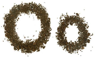 Soil Alphabet. Letters O
