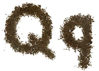 Soil Alphabet. Letters Q