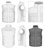 Men's bodywarmer design templates