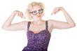 Blond Nerd Dancing