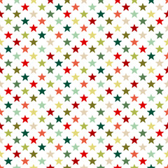 Seamless Pattern Stars Red/Green