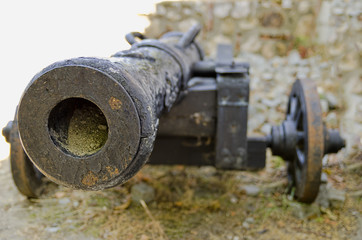 Old cannon from Brasov fortress