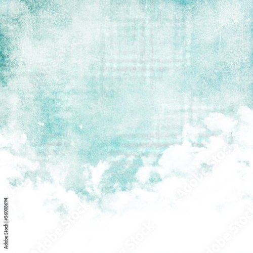 Fototapeta Water color like cloud on old paper texture background