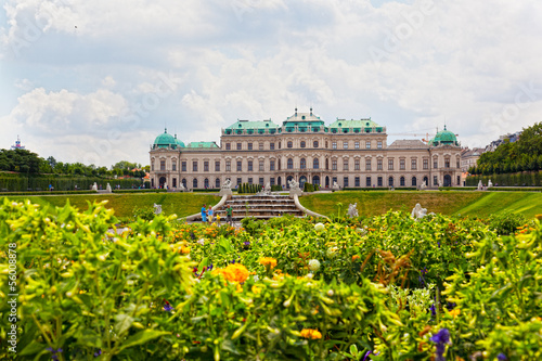 Belvedere a palace complex in Vienna in Baroque style