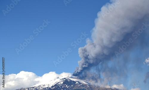Etna volcano eruption - Catania, Sicily