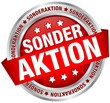 "Button Banner ""Sonderaktion"" rot/silber"