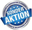 """Button Banner """"Sonderaktion"""" blau/silber"""