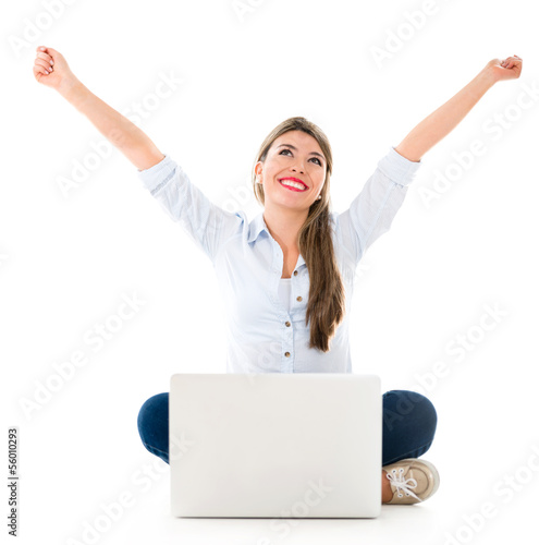 Successful woman online