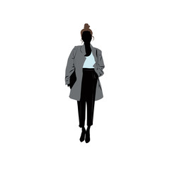 Shopping girl (business)- siluet