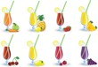 Набор различных фруктовых коктейлей, вектор картины