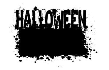 Halloween grungy silhouette vector background