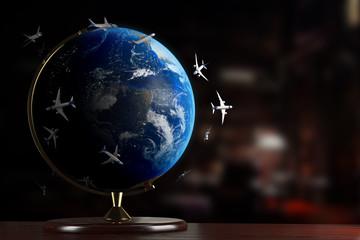 Air traffic around the Globe