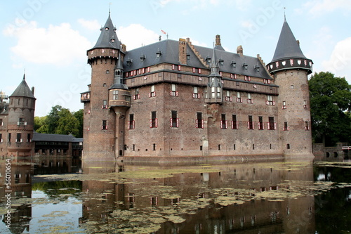 Castle de Haar from the 20th century in Haarzuilen.