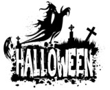 Halloween grungy silhouette background