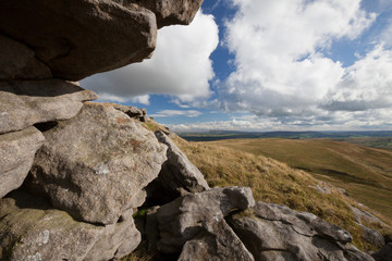 Pendle Hill from Bowland Knotts, Forest of Bowland, Lancashire