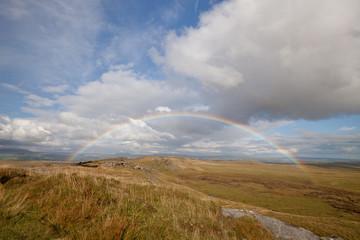 Rainbow over Bowland Knotts, Forest of Bowland, Lancashire