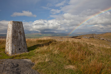 Rainbow over Bowland Knotts, Forest of Bowland, Lancashire