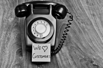 Old fashioned customer service concept