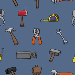 Cartoon Building Tools Seamless Background