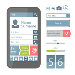 Mobile flat UI elements