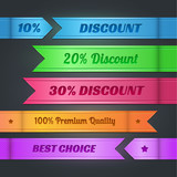 Vector set of colorful discount banners
